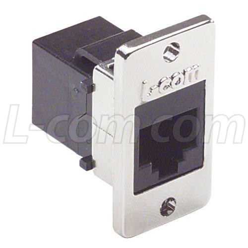 CatRJCoupler Shielded (8x8) Panel Mount Style - ECF504-SC6